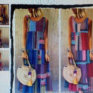 Dresses & Skirts - Patchwork-Look Maxi Sundress NWT